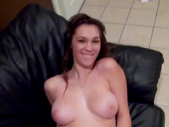 Holly Michaels is wanking that pretty big pole