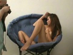 Jenny Reid is touching her shaved snatch