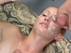 Pretty stunning beauty is swallowing two poles