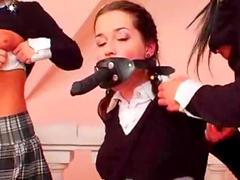 Nun strapon fucks schoolgirls
