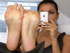 Sexy soles of soft feet