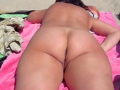 Big ass at the beach