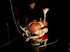 Mummified girl in his dungeon