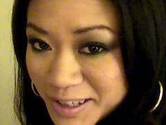 Horny brown eyed Asian girl POV hardcore