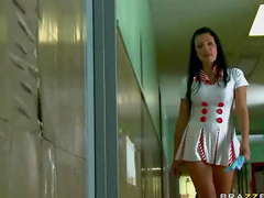 Horny nurse Aletta Ocean sucks