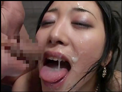 Cute amateur Asian nurse fucks in her wide mouth