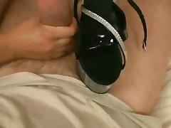 Stripper heeljob and cum