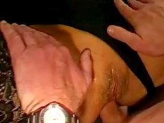 Milf in sexy stockings gets fucked in the tight asshole