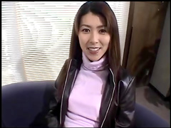 Horny straight Japanese brunette fucks in mouth
