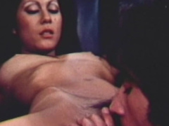 Brunette gets her hairy pussy licked and nailed