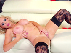 Nikki Benz fuck her wide-opened shaved puss