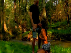 Couple fucks in the woods