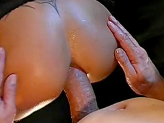 Tina is sucking a very big venous dick