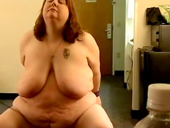 Fat wife in hot bondage