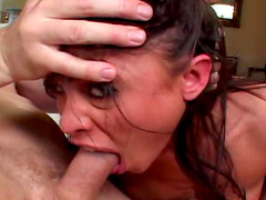 Sweet busty beauty being fucked by tow dicks in anal and pussy