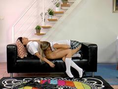 Gina H and Lara Latex are kissing so cute