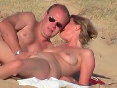 Wife banging at beach