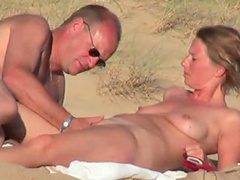 Wife banging at beach