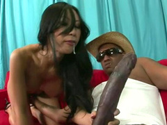 Asian babe Tia Ling and long black dick