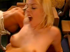 Blonde is sucking that dick so dirty