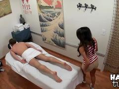Asian massage with hardcore fucking