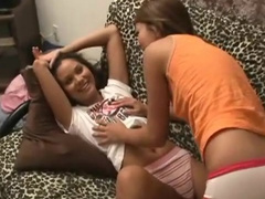 Jenny Reid is rubbing vag of her sister