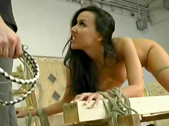 Her ass is marked from whipping