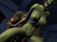 House of Erotic Monster - 3D