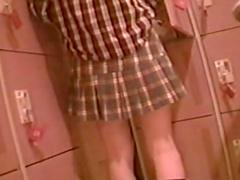 Sexy brunette in the sweet Japanese voyeur video