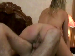 Lana gives a deep blowjob for her fucker