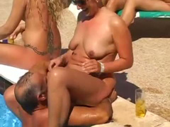 Girls in beach hardcore sex