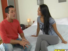 Asian in skintight pants fucked hard