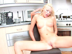 Blonde with natural boobies Pavla poses naked