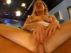 Hardcore blonde is swallowing juicy sperm so nasty