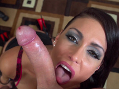 333Jessica Jaymes swallows a giant long dick