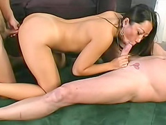 Asian cocksucker is their threesome meat