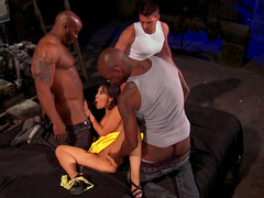 Hardcore interracial gangbang with Asa Akira