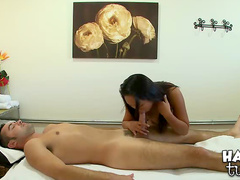 Sex with small tits Asian masseuse