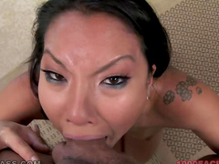Asian Asa Akira POV deepthroat blowjob