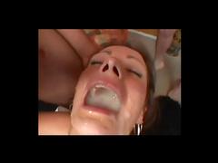 Cutie swallows lots of cum