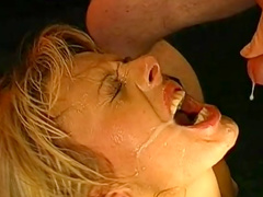 Hardcore cum-swallowing blonde shows off her skills