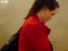 Upskirt in public building