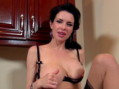 Big-tit brunette Veronica Avluv is sucking a hard pole