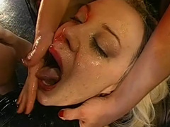 German bitches wearing stockings get ass fucked doggy style