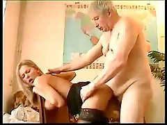 Sara fucked by an old pervert
