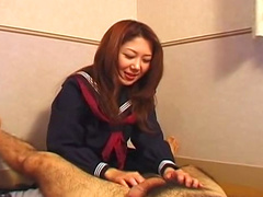 Japanese teen schoolgirl Nanako Hatsushima posing video