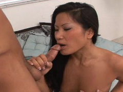 Asian Christina suck European dick of hardcore Rob