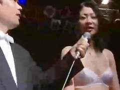 Slutty Japanese chicks with small tits getting cumshots