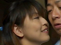 Horny Japanese chick is getting cum in pussy