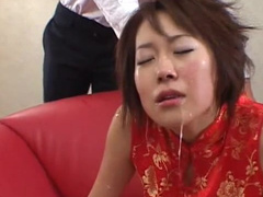 Japanese maid takes off bra and gets pounded really hard